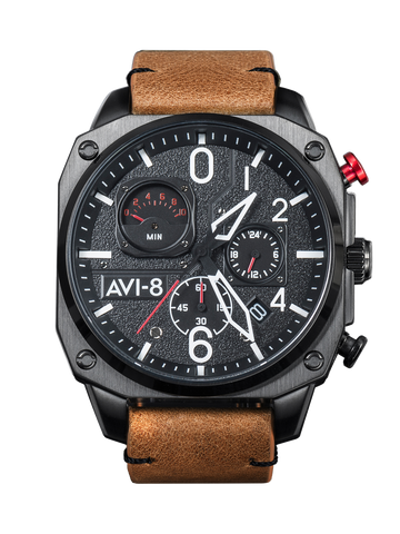 CHARCOAL EMBER BROWN RETROGRADE CHRONOGRAPH 1