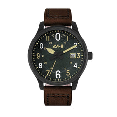 black/brown watch