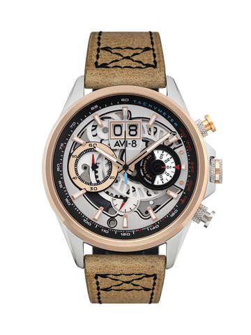 BURNT GOLD BROWN MATADOR CHRONOGRAPH 1