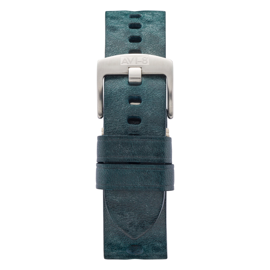 leather military watch strap