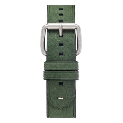 olive leather watch strap