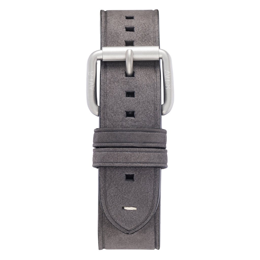grey leather watch strap