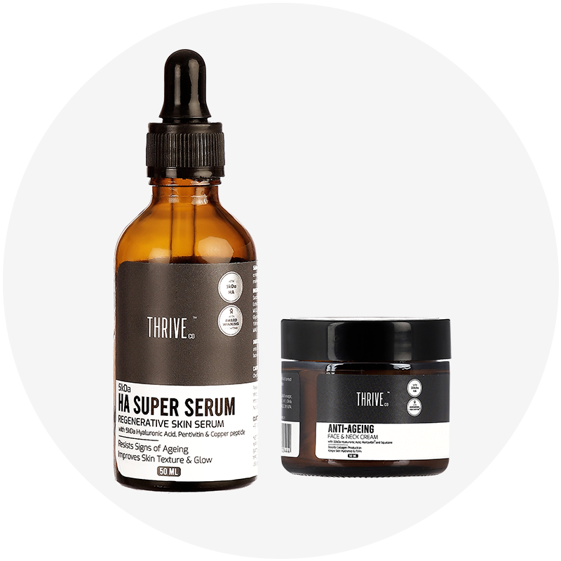 5kDa HYALURONIC ACID  SUPER SERUM + ANTI-AGEING FACE & NECK CREAM