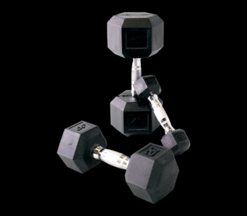 New CAP Barbell Rubber Hex Dumbbell Set