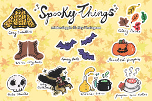 Spooky Things Stickers