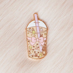 Bunny Bubble Tea Pin