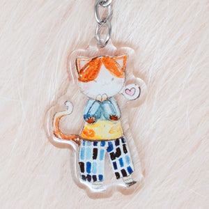 Fashion Kitty Charm