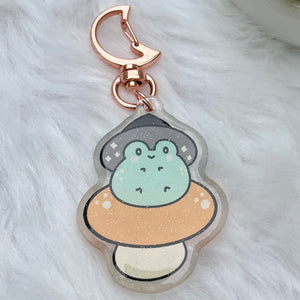 Shroomy Witch Frog Charm