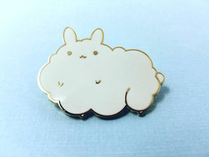 Cloud Bunny Lapel Pin