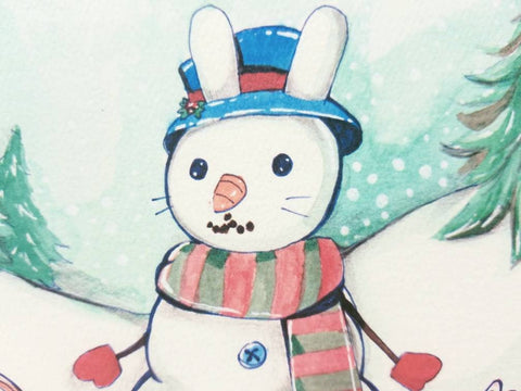 Snowbunny Greeting Card