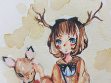 Load image into Gallery viewer, Deer Girl Greeting Card