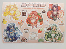Load image into Gallery viewer, MewMew Cafe Stickers