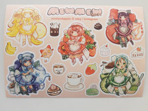 MewMew Cafe Stickers