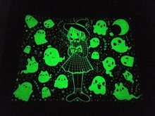 Load image into Gallery viewer, Grid Witch Glow In The Dark Tote