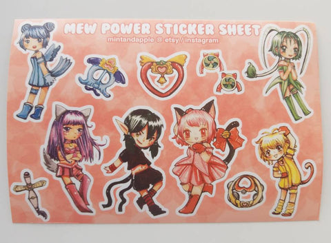 Mew Power Stickers