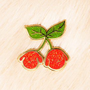Cherry Bunnies Lapel Pin