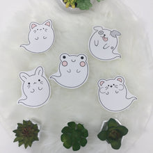 Load image into Gallery viewer, ghost hamster handcut sticker