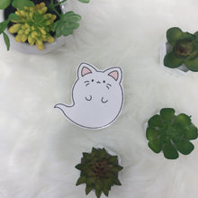 Load image into Gallery viewer, ghost kitty handcut sticker