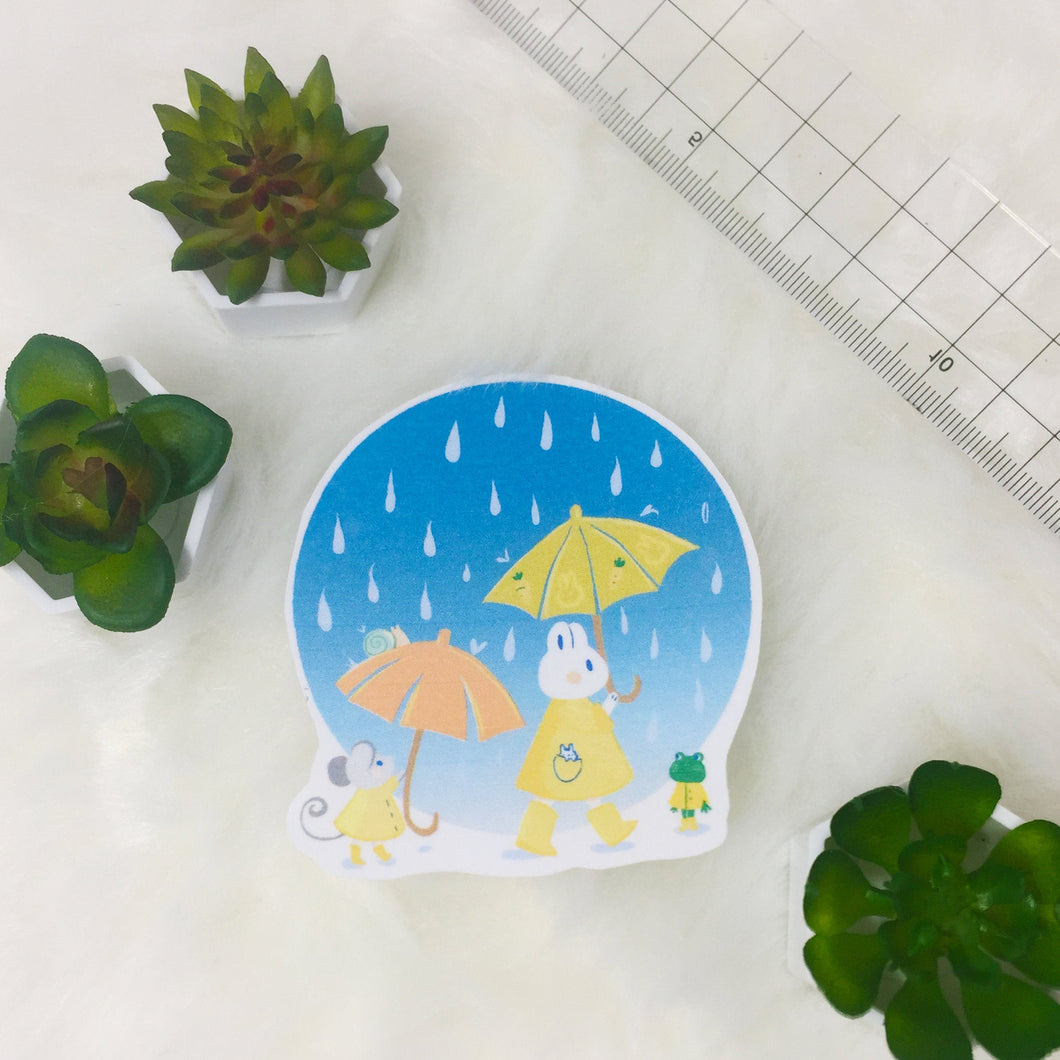 Rainy day sticker