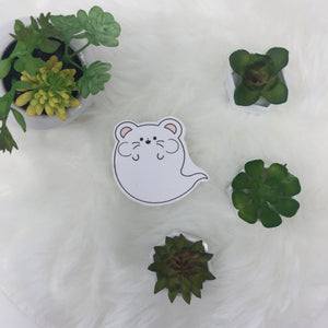 ghost hamster handcut sticker
