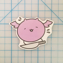 Load image into Gallery viewer, Stabby Batty handcut sticker
