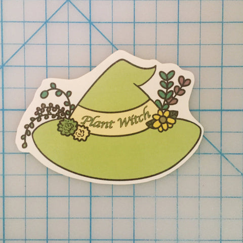 Plant witch handcut sticker