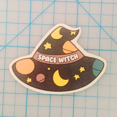 Space Witch handcut sticker