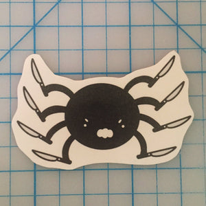 Spoopy Spider handcut sticker