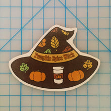 Load image into Gallery viewer, Pumpkin Spice Witch handcut sticker