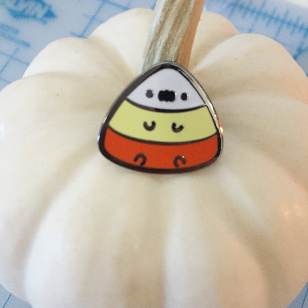 Anxious Candy Corn Pin