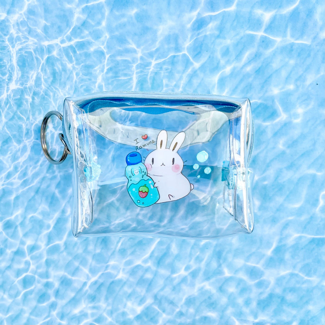 Ramune Bun Clear Mini Pouch