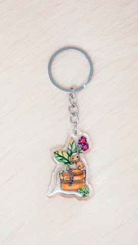 Castle In The Sky Robot Planter Charm