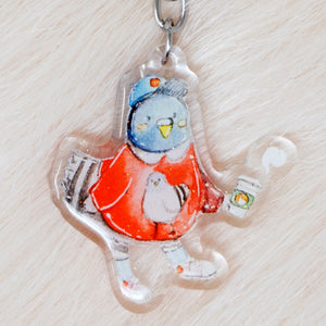 Fashion Pigeon Charm