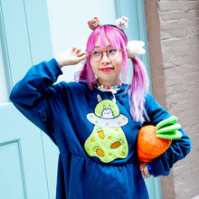 Load image into Gallery viewer, UFO Bunny Hoodie Dress