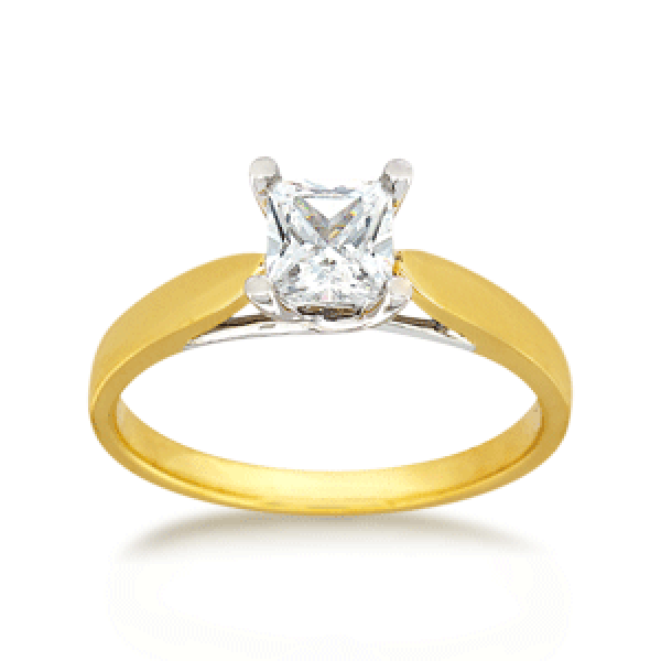 18ct Princess-cut 0.50ct Diamond Solitaire