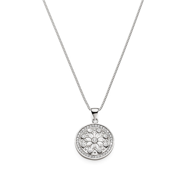 Sterling Silver Cubic Zirconia pendant with chain