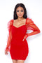 Lovebug Mini Dress - Red