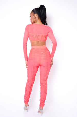 Carrie Two Piece Pant Set - Pink