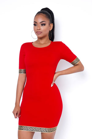 Patricia Mini Dress - Red