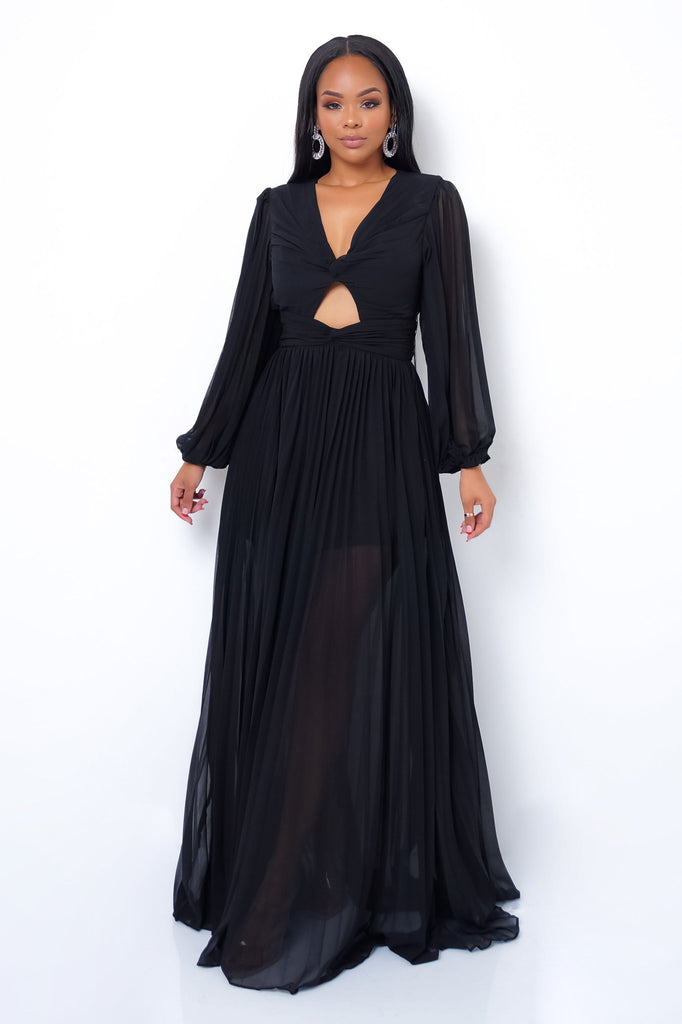 Matchmaker Maxi Dress - Black