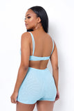 After Party Two Piece Short Set - Light Blue
