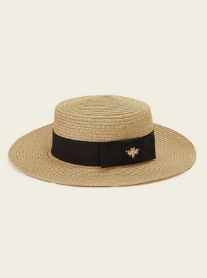 Bee Decor Straw Hat