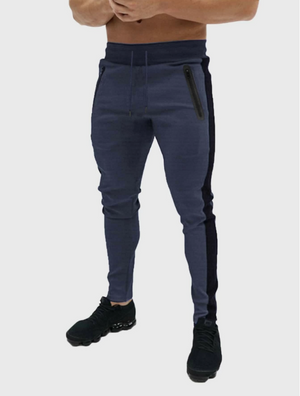 Men Contrast Sideseam Drawstring Sweatpants