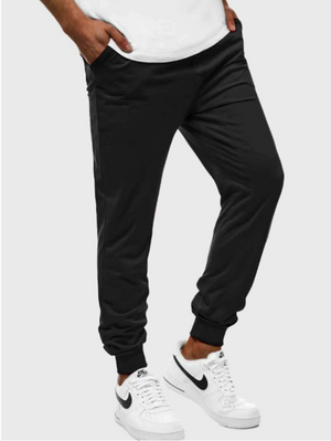 Men Pocket Side Solid Sweatpants