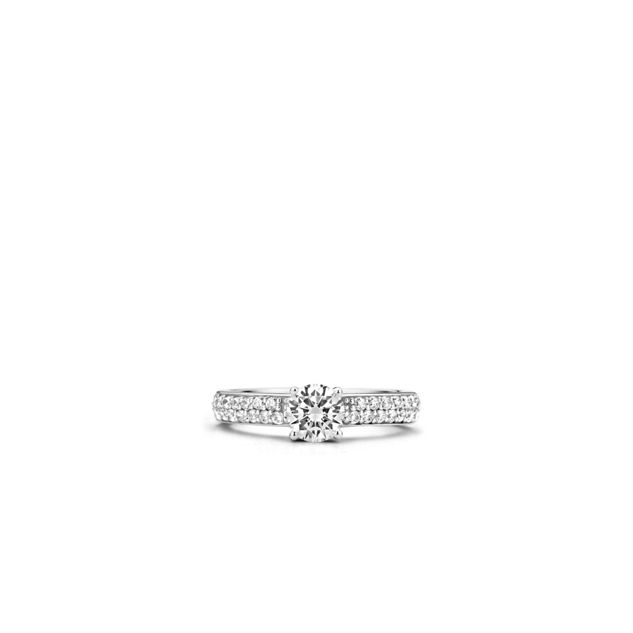 TI SENTO Bague Sophisticated Solitaire CZ
