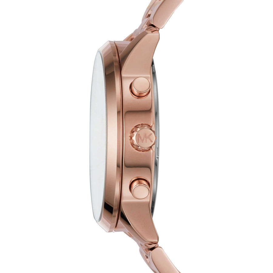 MK Montre Slater à multifonctions or rose