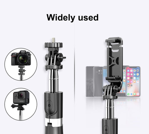 Wireless remote control Bluetooth selfie stick selfie god gopro camera live photo tripod.