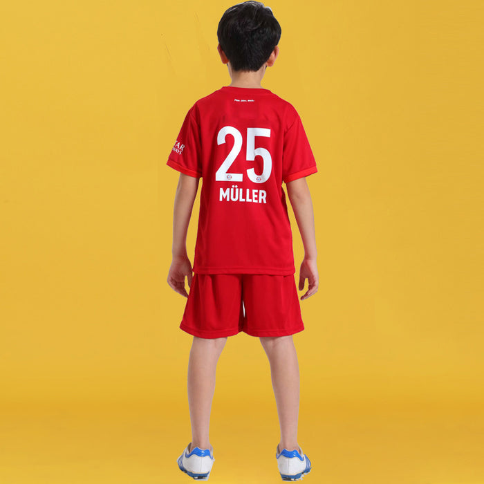 Children's training sportswear children's football suit short sleeve jerseys boy and girl