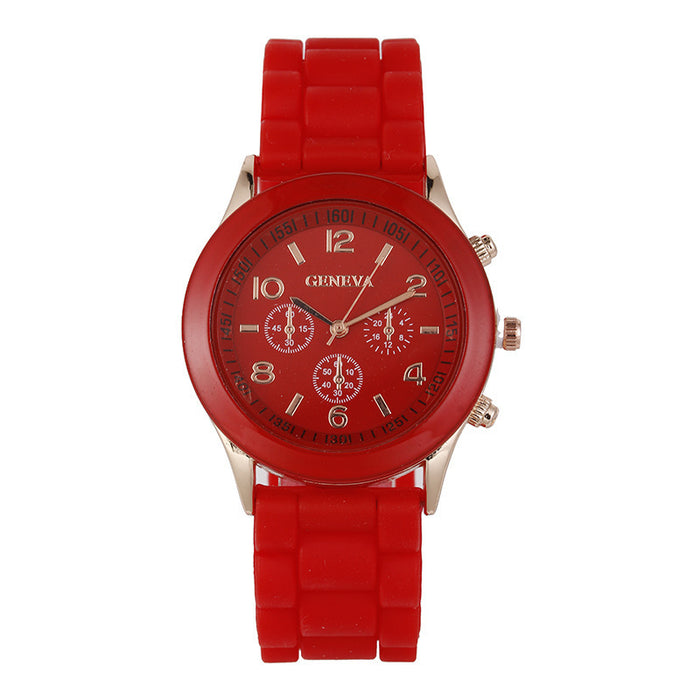 Silicone watch color jelly student leisure watch