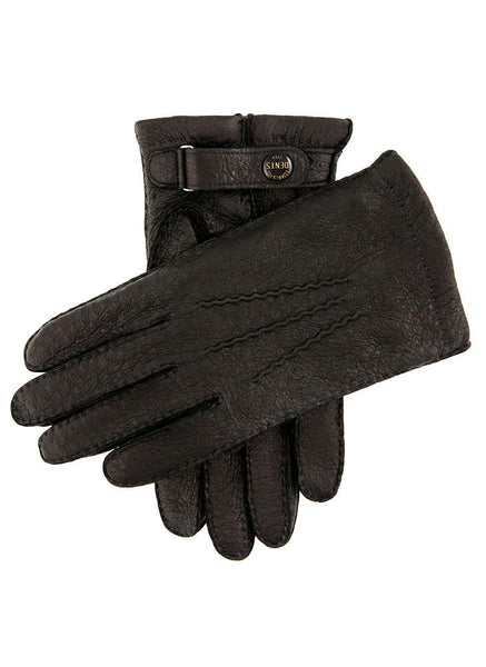 Men's Handsewn Vicuña Lined Peccary Leather Gloves